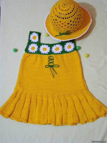 Вязание детских сарафанов и платьев