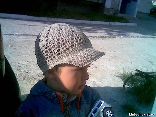 вязаная кепка крючком схема фото девочке летняя.