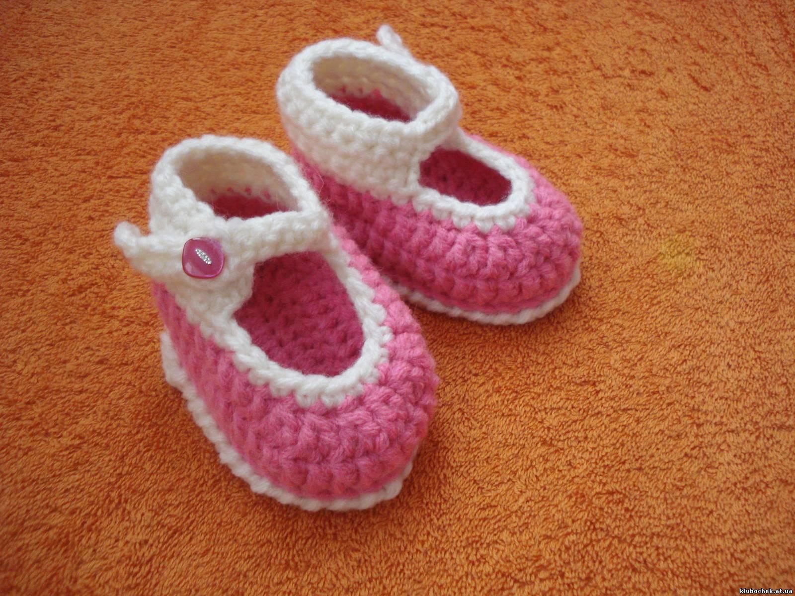 Вязаные спицами туфельки для малышек Ежевика - Modnoe 38